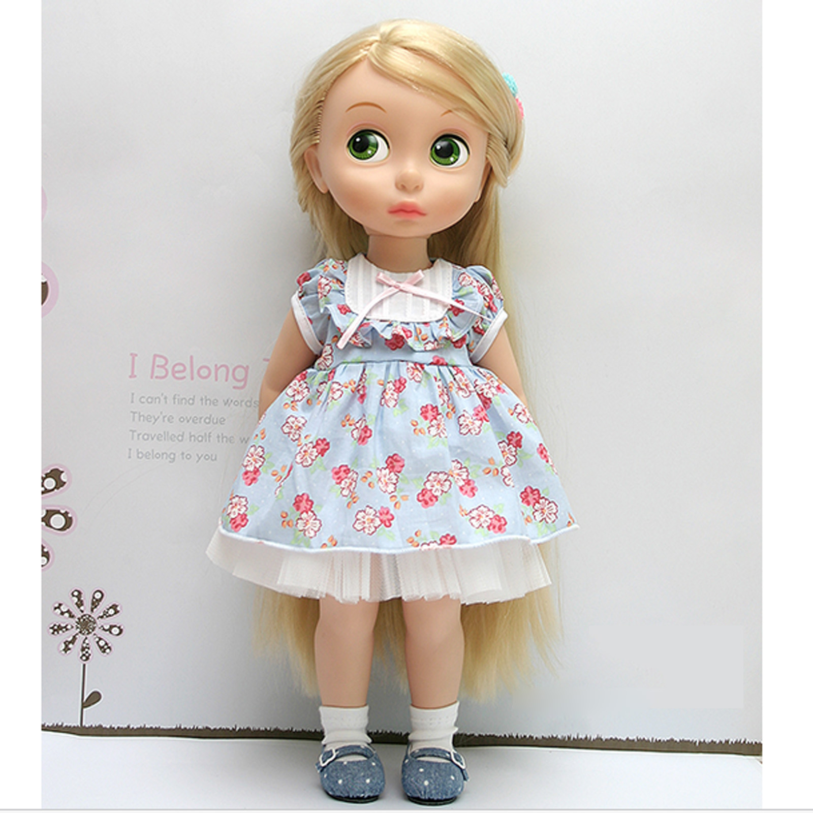 Disney Baby doll clothes dress clothing blue flower