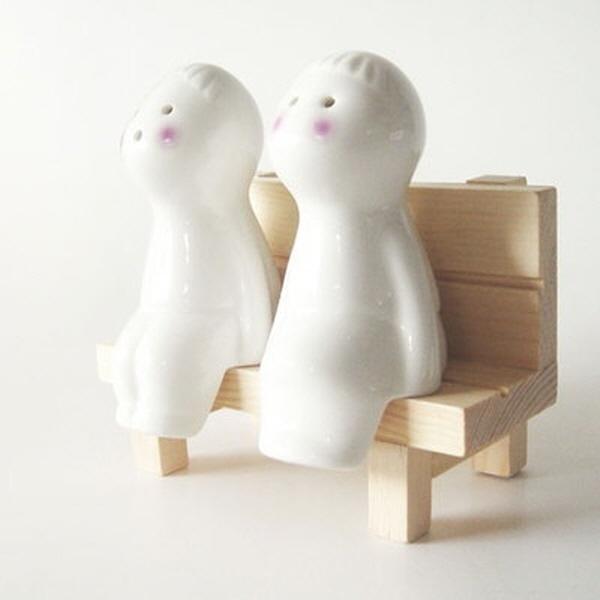 BOY+GIRL Ceramic doll cruet set키친/리빙/식기/용기/양념통/보관용기/양념통