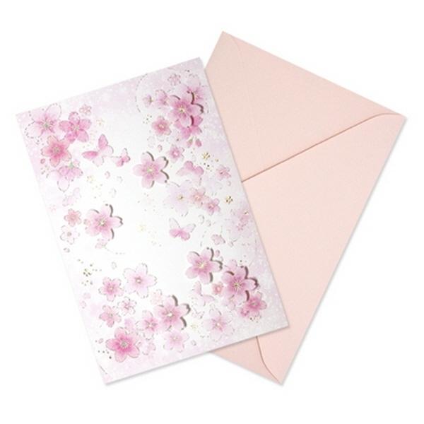 [현재분류명],180822AJB-17084 벚꽃카드 YD-22,디자인문구,편지,카드,카드,일러스트카드