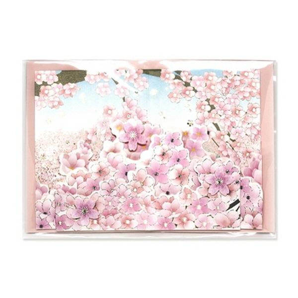 [현재분류명],180822AJB-17087 벚꽃카드 JD-13,디자인문구,편지,카드,카드,일러스트카드