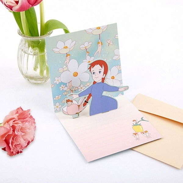 [현재분류명],180822AJB-17090 빨강머리앤 팝업카드,디자인문구,편지,카드,카드,입체,팝업카드