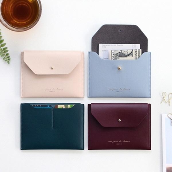 [현재분류명],180822AJB-17096 아이코닉 슬릿 투포켓 월렛,패션,지갑,카드지갑,기본형