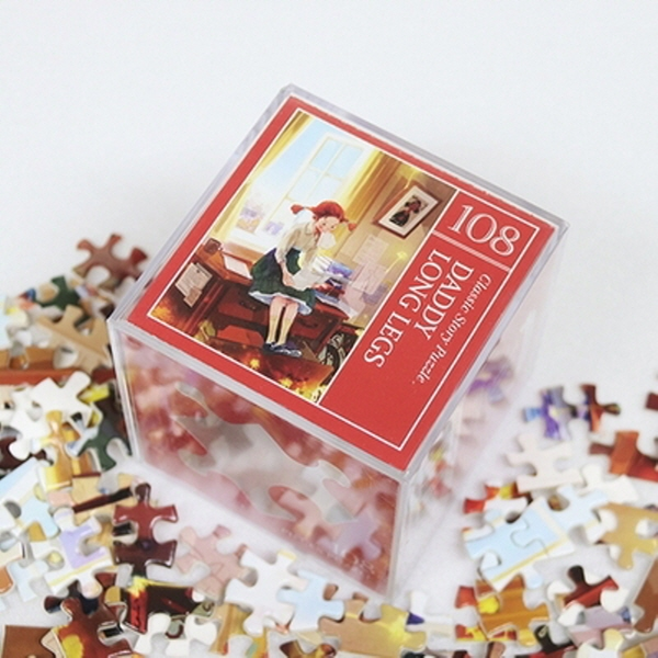 [현재분류명],180822AJB-17136 인디고 미니 퍼즐 108피스 - 키다리아저씨,취미,키덜트,퍼즐,직소퍼즐,캐릭터직소퍼즐