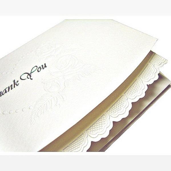 [현재분류명],감사카드/ Thank You _ 레이스 (미색),디자인문구,편지,카드,카드,감사카드