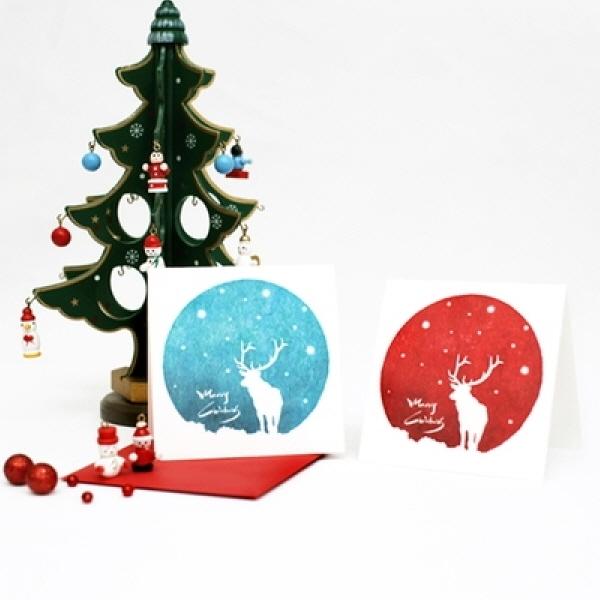 [현재분류명],스노우 루돌프,GIFT,편지,카드,카드,크리스마스카드