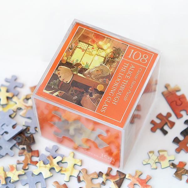 인디고 미니 퍼즐 108PCS 앨리스 오렌지