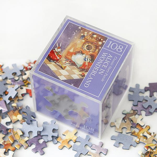 인디고 미니 퍼즐 108PCS 앨리스 퍼플