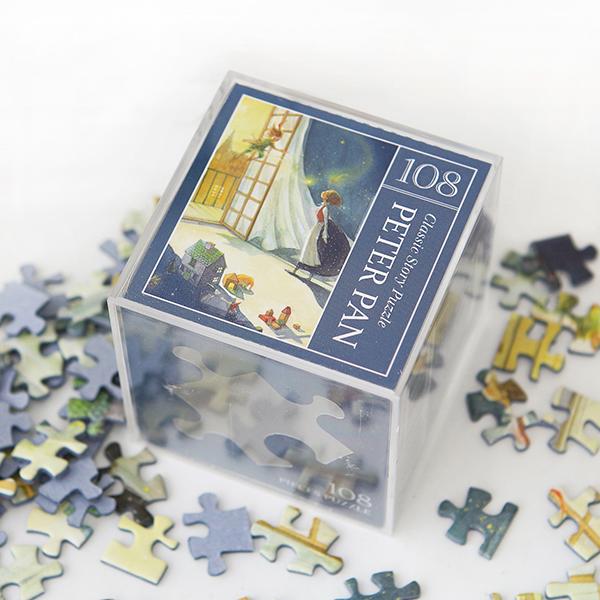 인디고 미니 퍼즐 108PCS 피터팬 네이비