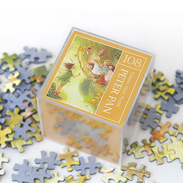 인디고 미니 퍼즐 108PCS 피터팬 옐로우