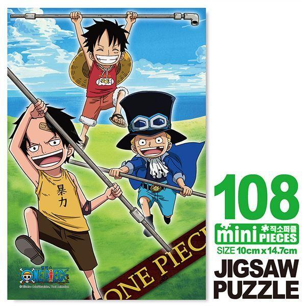 원피스 사보 에이스 루피 미니큐브 퍼즐 108PCS