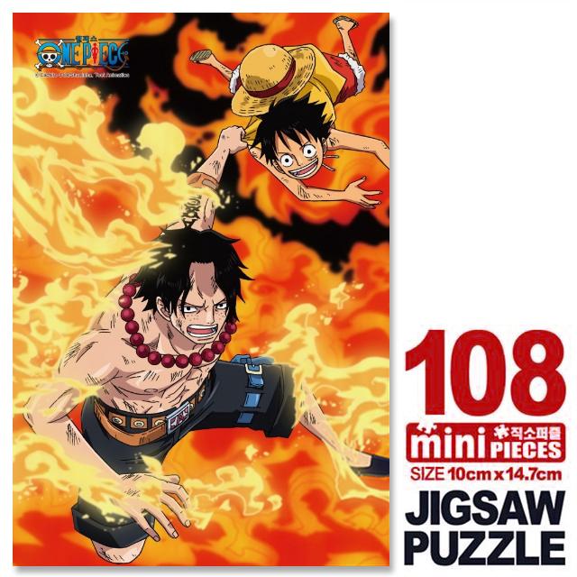 원피스 에이스 루피 미니큐브 퍼즐 108CS