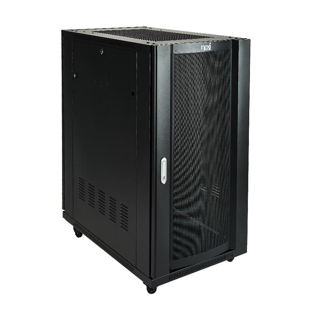 서버랙 SH1200 H1200xW600xD1000 22U 전면 타공 전산