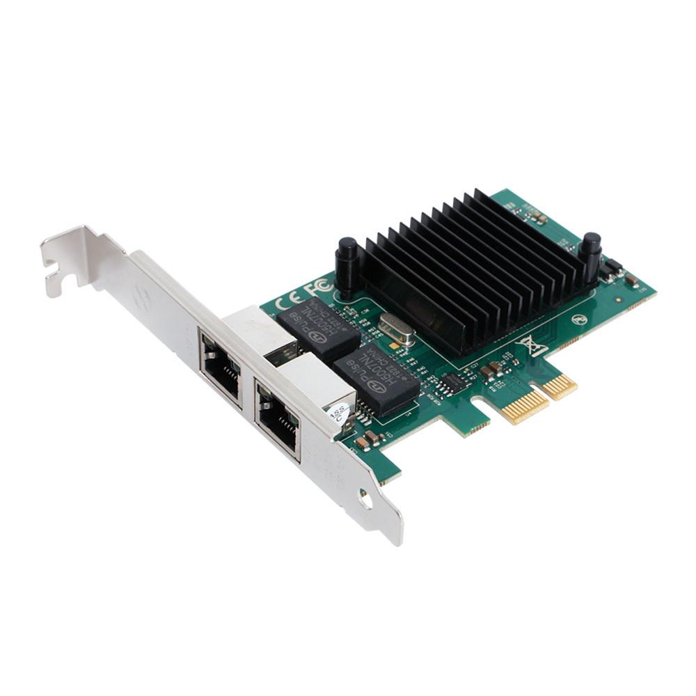 1G듀얼 포트 PCI-Express 랜카드 인터넷 데이터송수신