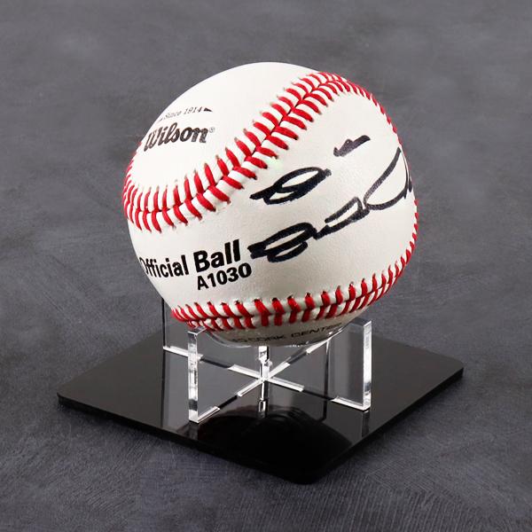 야구공 전시용 사각 X자받침대 <br>EB1406B 사인볼진열 장식