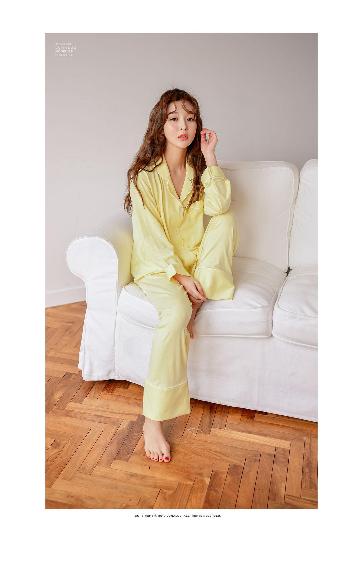 레몬 투피스 카라넥 스판 여성잠옷 W457 - 쿠비카, 88,000원, 잠옷, 여성파자마