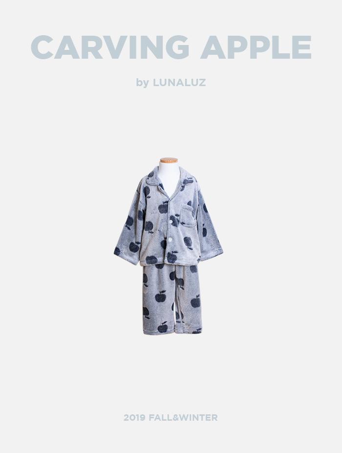 남아 카빙애플 밍크극세사잠옷(카라넥) 19-7571