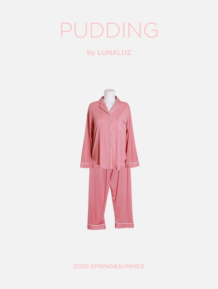 여성 푸딩 텐셀상하잠옷(2C긴소매카라넥) 20-00231