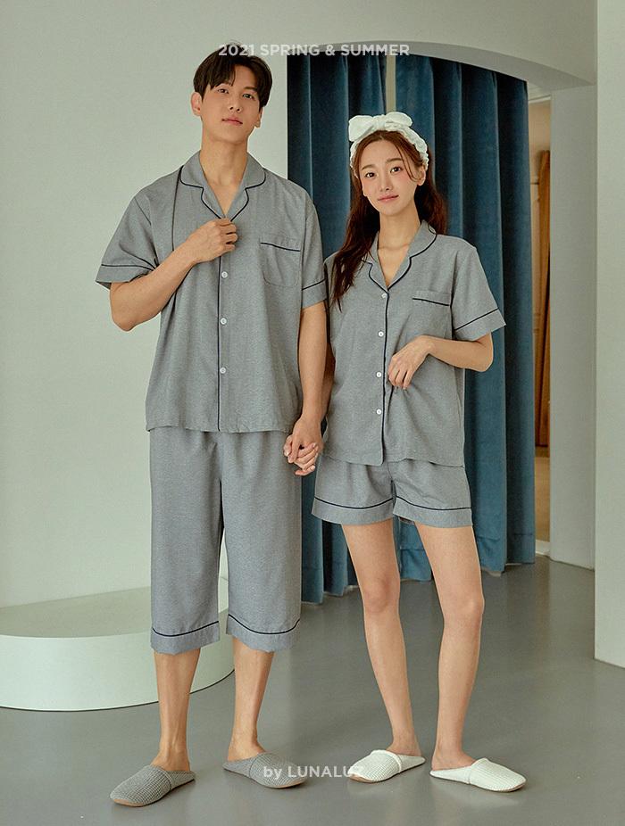 커플 솔리드 CDP 상하(반소매카라넥) 21-01051