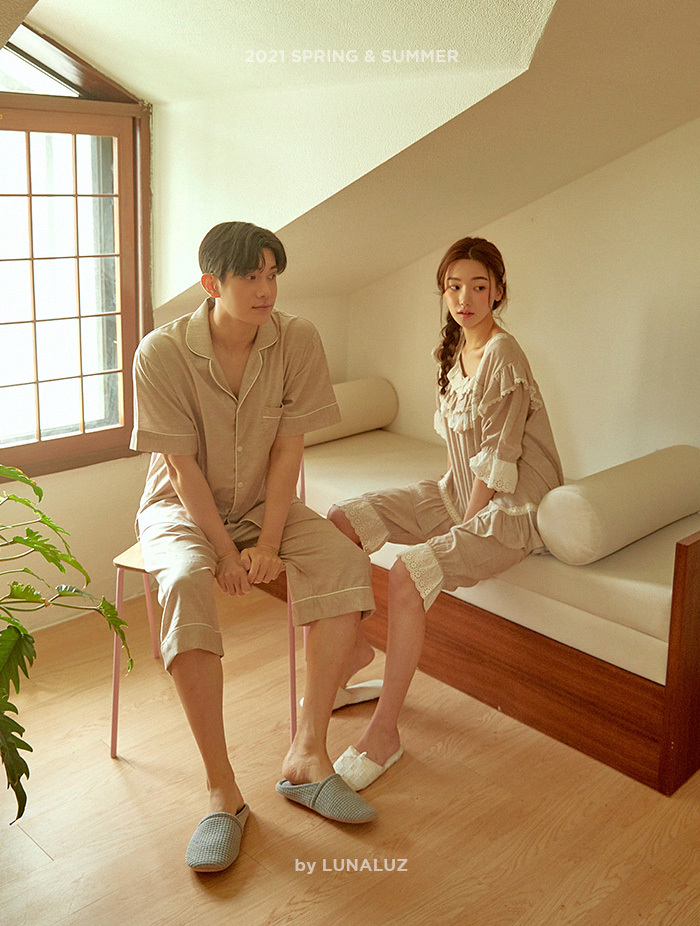 커플 헬레나 코튼 상하(반소매) 21-01152