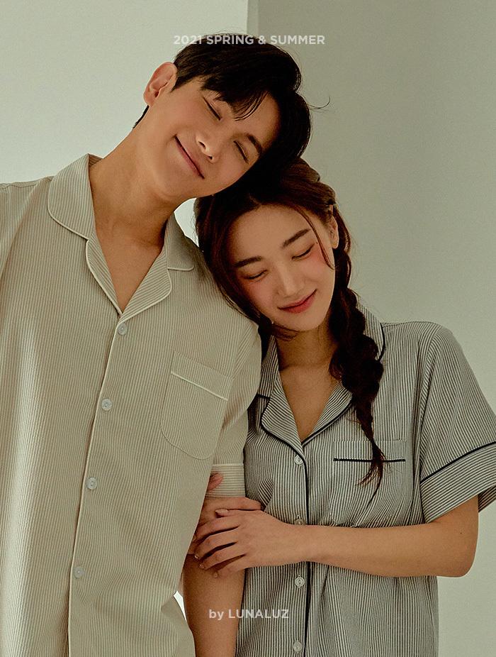 커플 비스킷 상하(2C반소매카라넥) 21-01452