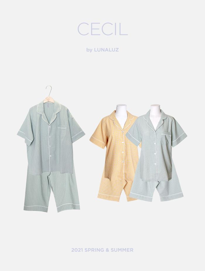 커플 쎄실 코튼혼방 상하(2C반소매카라넥) 21-01652