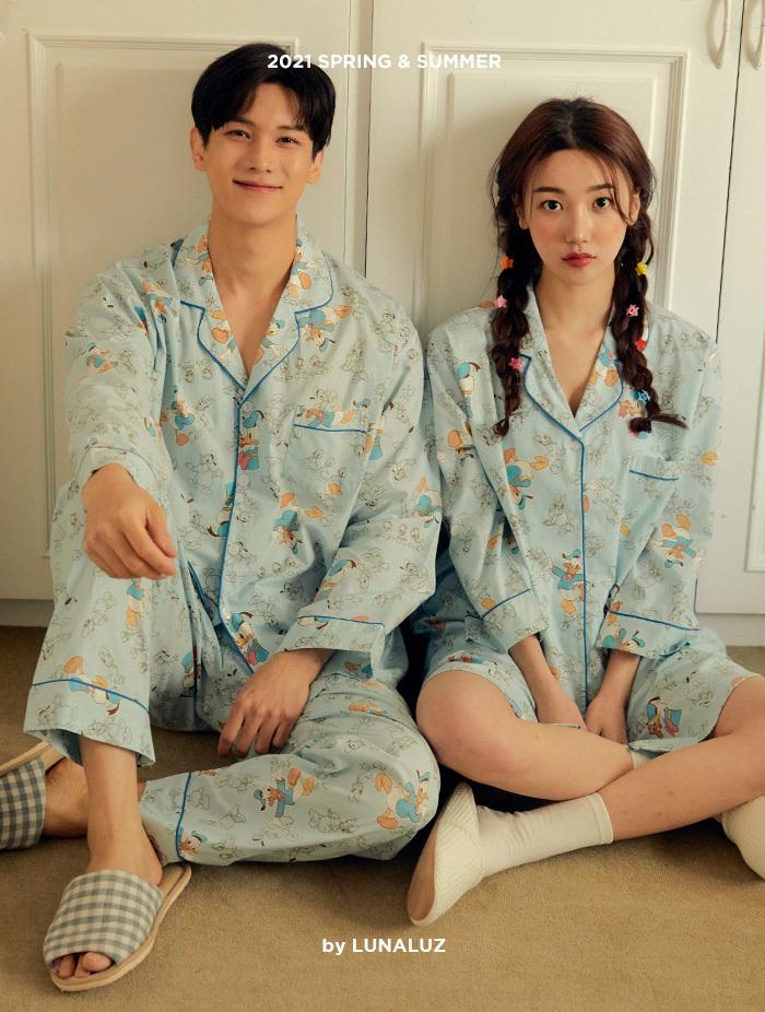 커플 도널드프렌즈 코튼 상하(2C긴소매카라넥) 21-02251