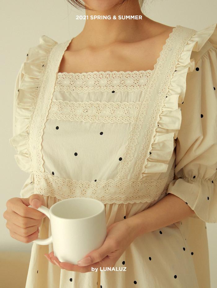 여성 쿠앤크 고밀도코튼 상하(반소매스퀘어넥) 21-02532