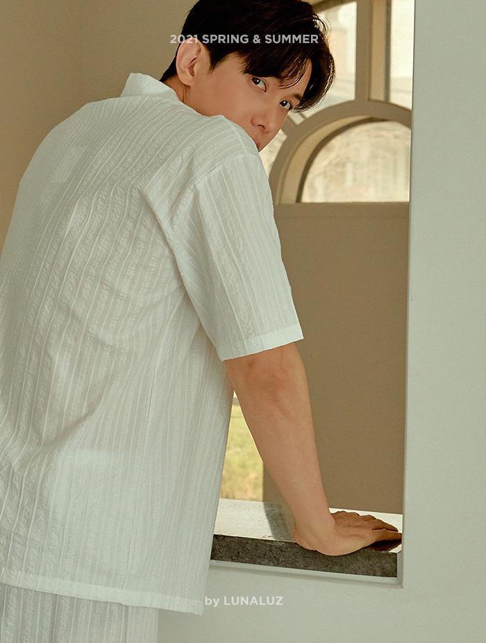 남성 조이플 도비면 상하(반소매카라넥) 21-02611