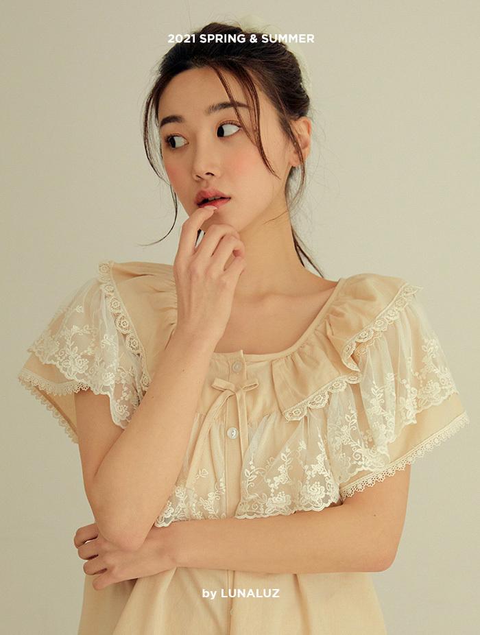 여성 마그넷 코튼 상하(2C반소매라운드넥) 21-02732
