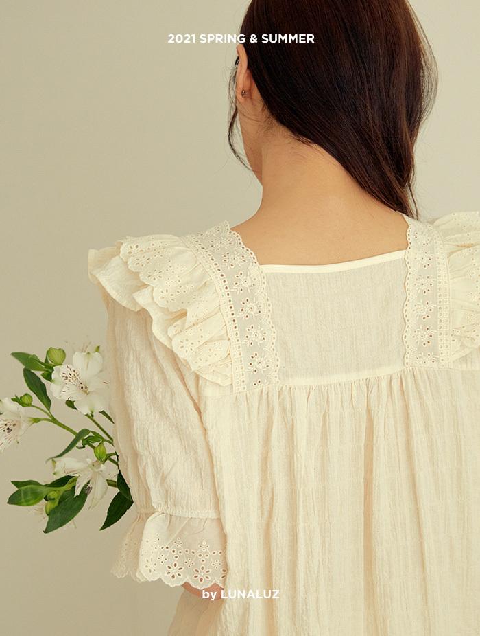 여성 샤샤 레이온코튼 상하(반소매브이넥) 21-03632