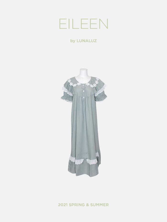 여성 아일린 린넨레이온 원피스(반소매라운드넥) 21-04231