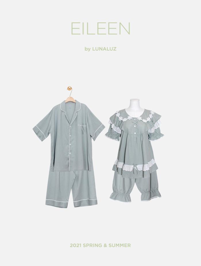 커플 아일린 린넨레이온 상하(반소매라운드넥) 21-04252