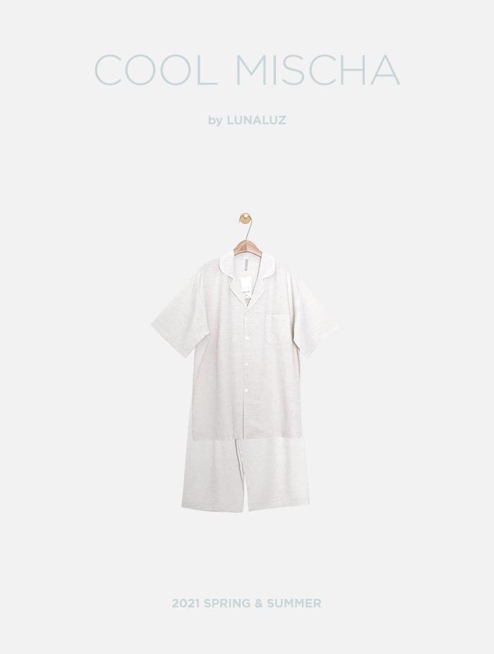 남성 쿨미샤 레이온린넨 상하(반소매카라넥) 21-05211
