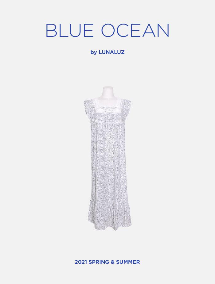 여성 블루오션 레이온 원피스(민소매스퀘어넥) 21-05931