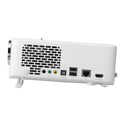 Lg mini beam pro pf1500 1400 ansi lumen full hd portable for Portable smart projector