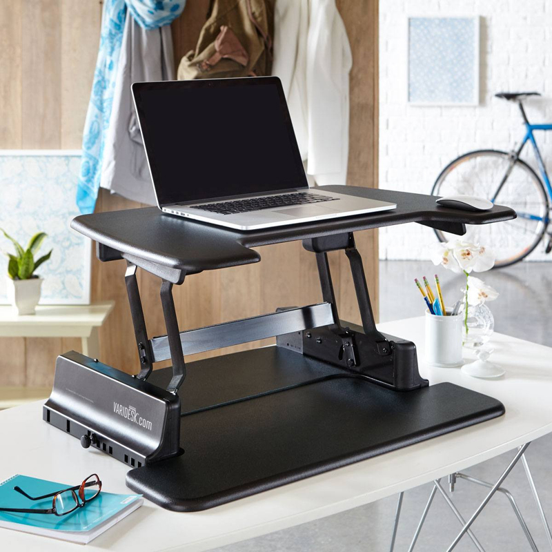 Varidesk laptop 30 height adjustable standing desks laptop for Chairs for standing desks