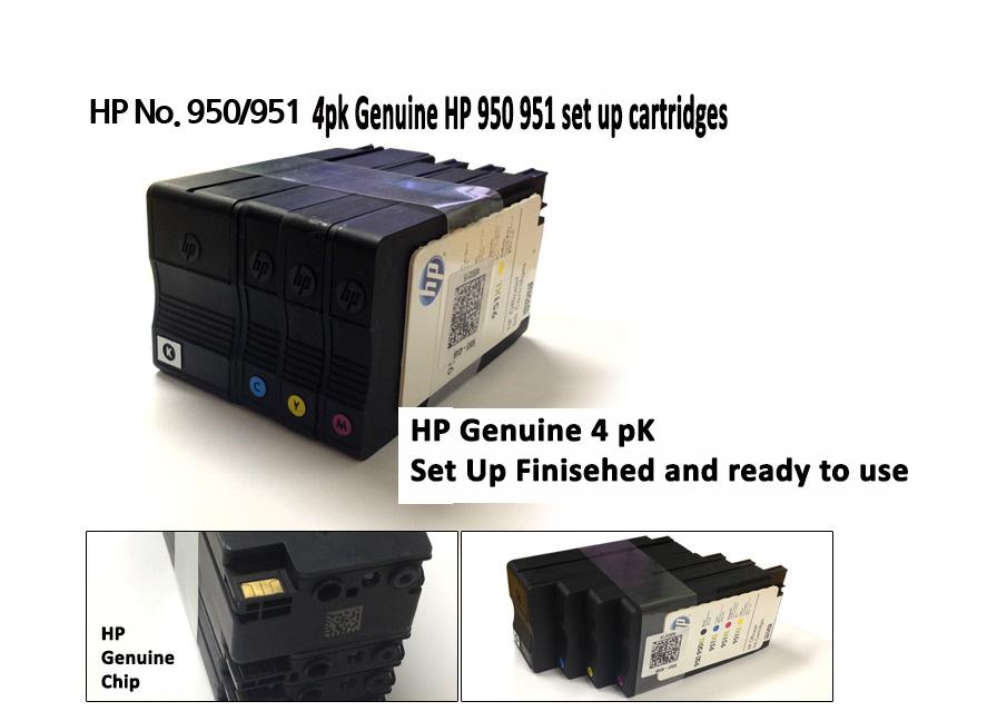 hp genuine 950 951 set up cartridge officejet pro 8600 plus genuine set up ink ebay. Black Bedroom Furniture Sets. Home Design Ideas