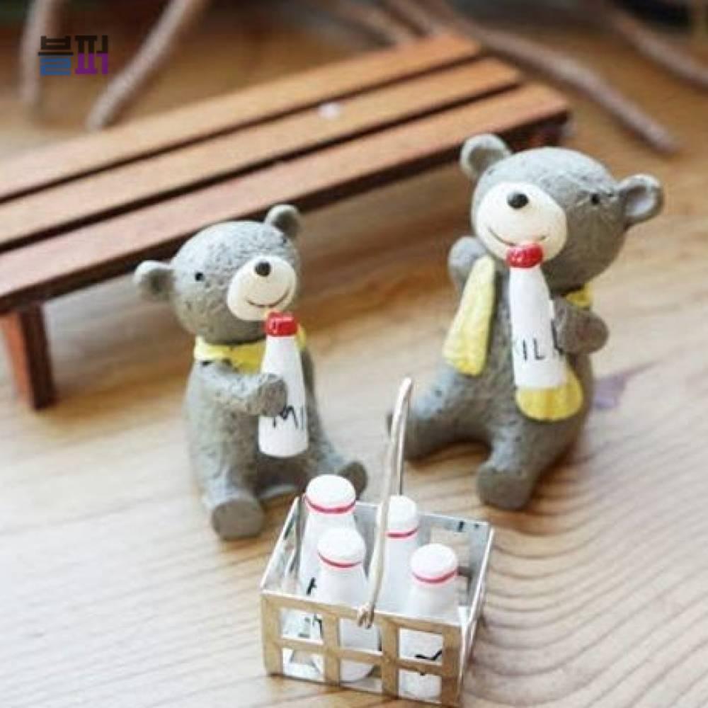 미니어처소품 가게인테리어소품 곰돌이우유