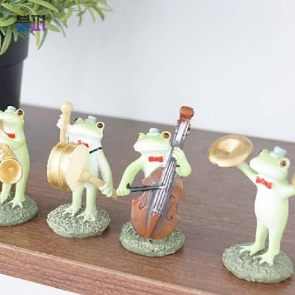 미니어처소품 연주하는 개구리 4종세트 귀여운소품