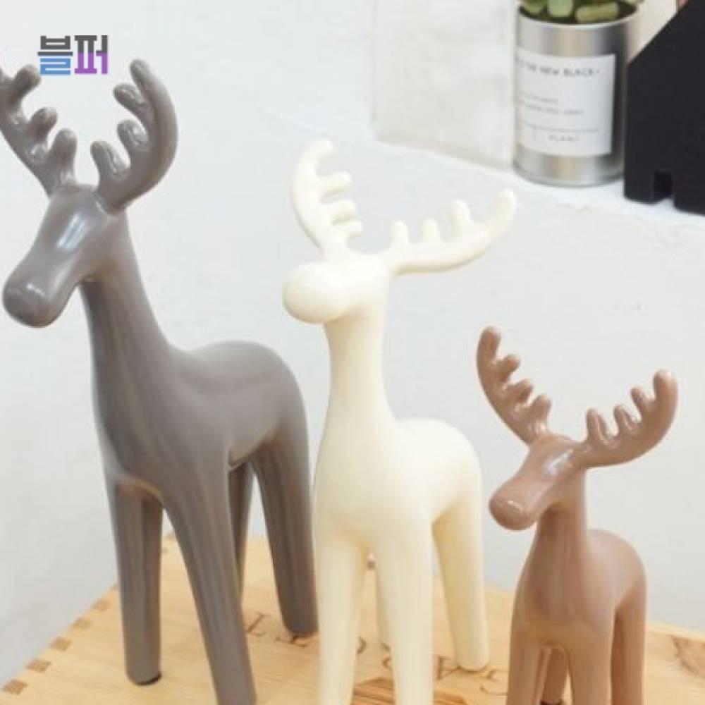 인테리어소품 동물 미니어처소품 사슴3P