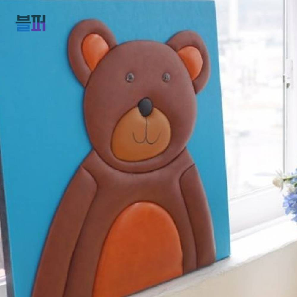 인테리어소품 곰돌이 가죽 3D액자 집들이선물