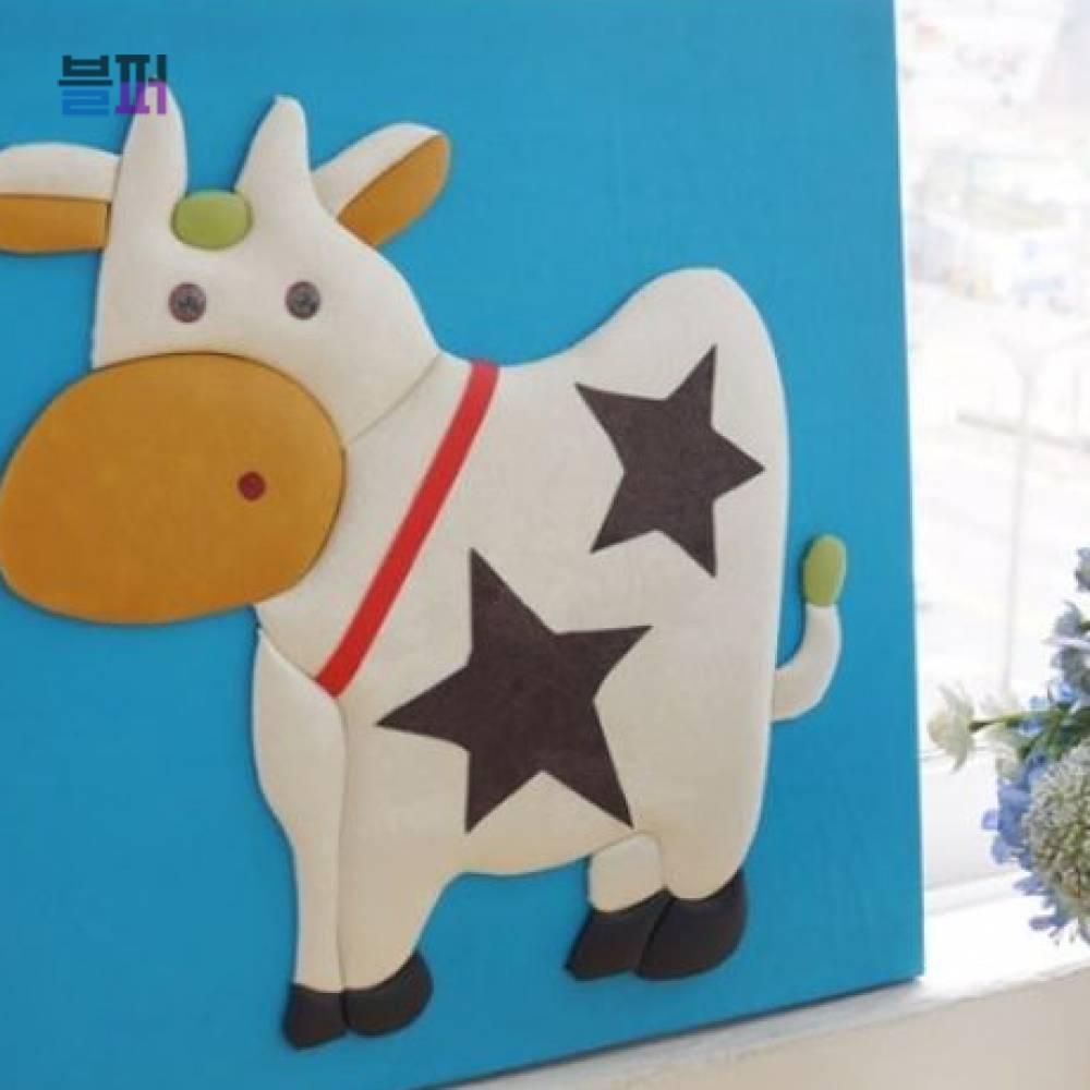 인테리어소품 젖소 가죽 3D액자 집들이선물