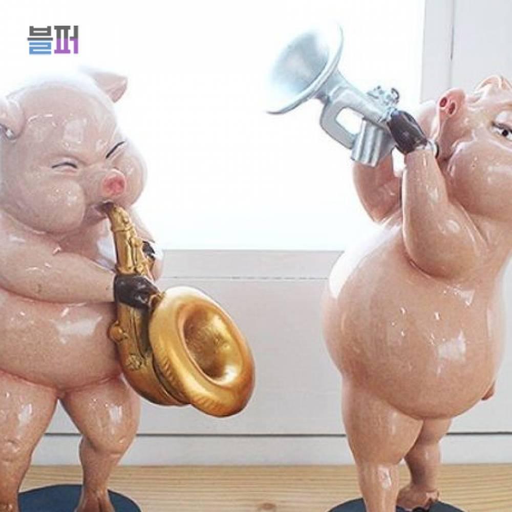 미니어처소품 트럼펫 핑크돼지 2P 인테리어소품