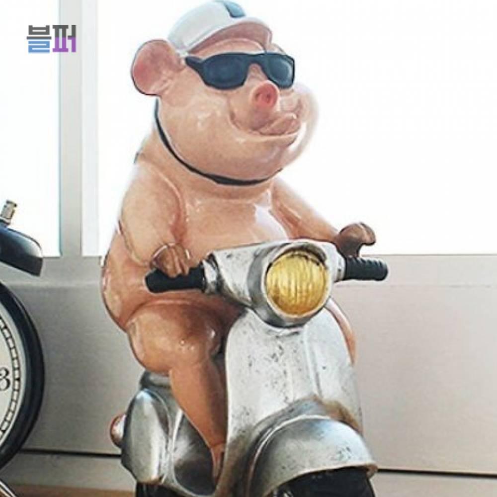 미니어처소품 오토바이 핑크돼지 2P 인테리어소품