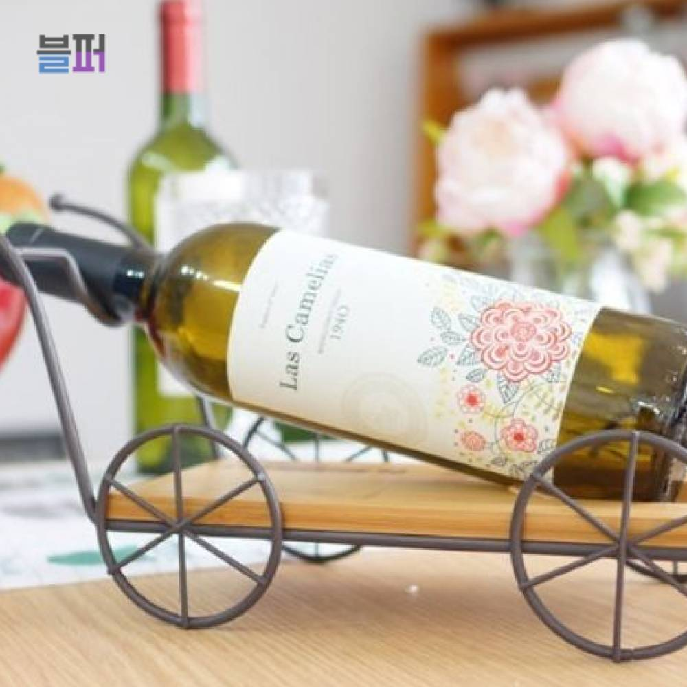 와인홀더 와인케이스 빈티지소품 수레 와인홀더