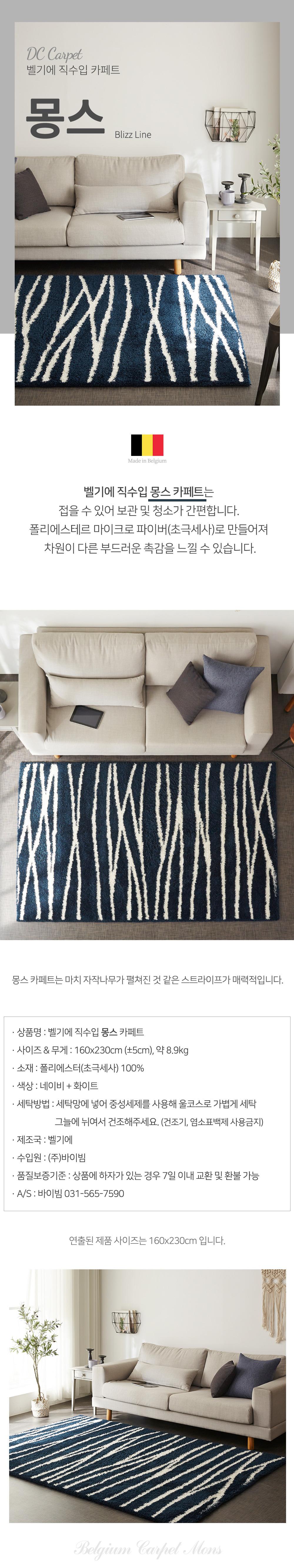 Belgium DC Carpet - washable rug - mons