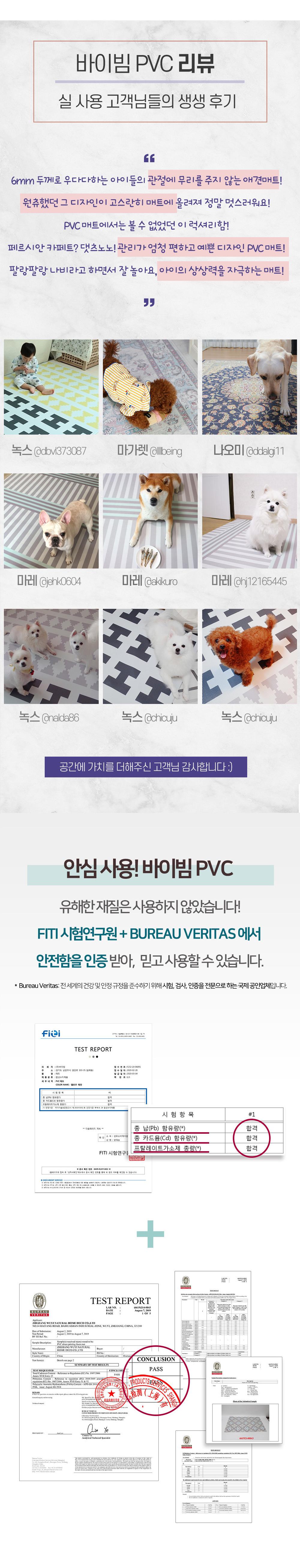 바이빔 PVC FITI 시험성적서 합격
