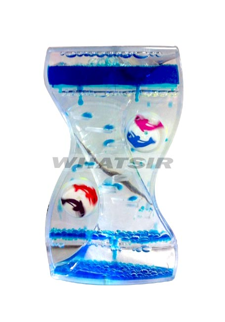 new acrylic oil glass liquid timer clock hourglass