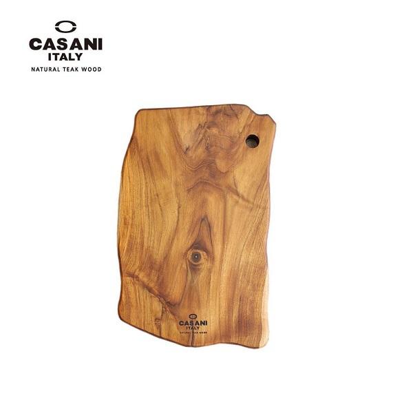 CASANI 이태리 명품 까사니 티크원목도마 대형(W45*D28*H2.8cm)