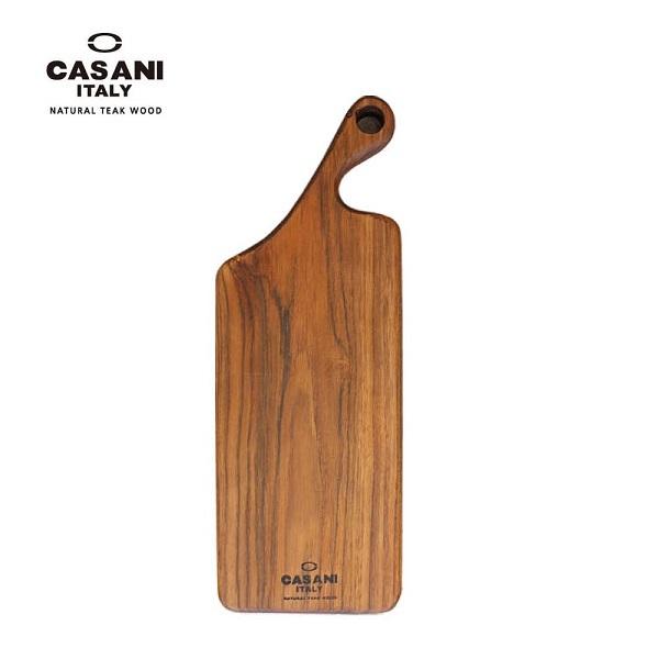 CASANI 이태리 명품 까사니 티크원목도마 손잡이도마(W42*D15*H2.8cm)